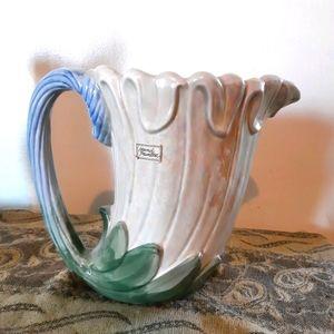Fitz & Floyd 70s vintage vase decor hand painted